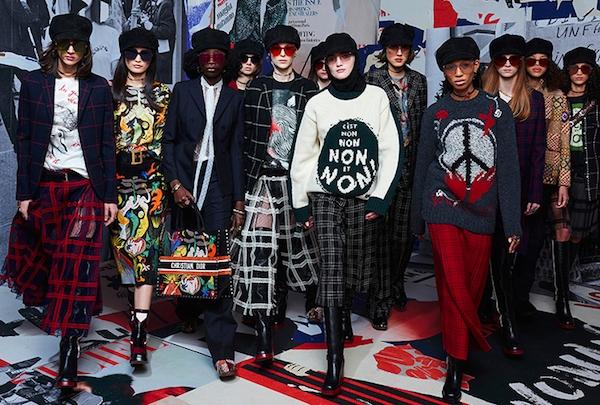 Dior podzim-zima 2018/2019 – Revoluční šedesátky