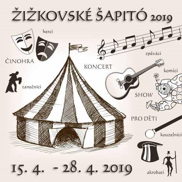 Pozvánka na Divadelní šapito v Praze na  Žižkově !