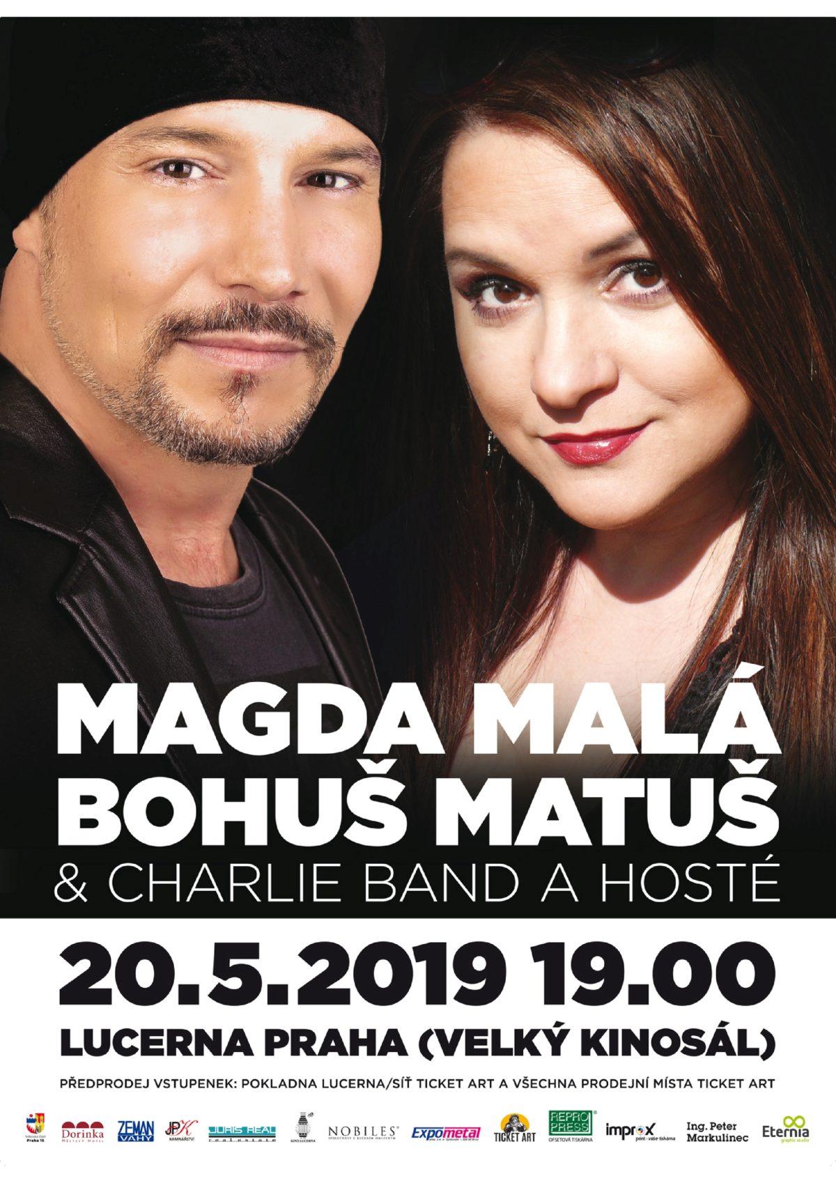 Jedinečný koncert v Lucerně: Magda Malá a Bohuš Matuš