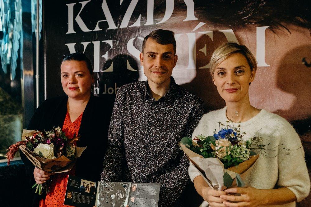 Bára Poláková, Gábina Partyšová, Lucie Polišenská pokřtili audionahrávku mladého umělce Martina Johanny